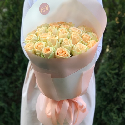 21 Peach Roses to Istanbul