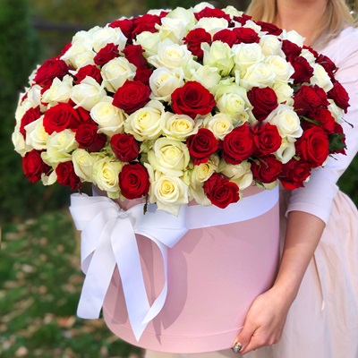 101 roses in box to Istanbul