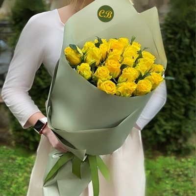 25 Yellow Roses to Istanbul